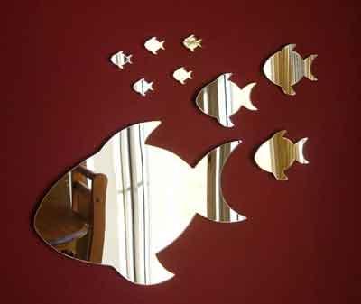 зеркало в виде рыб