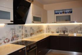 кухонный фартук с рисунком